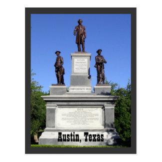Cartão Postal Soldados confederados Austin, Texas