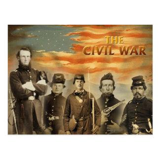 Cartão Postal Soldados da guerra civil americana