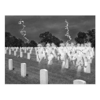 Cartão Postal Soldados do fantasma em Jefferson Baracks