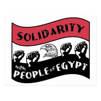 Cartão Postal Solidariedade com as pessoas de Egipto