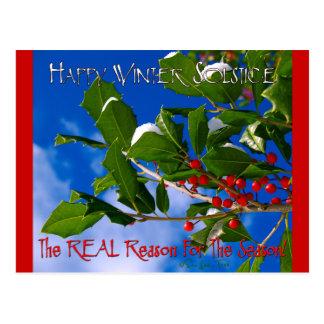 Cartão Postal Solstício de inverno feliz