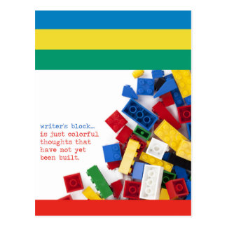 Cartão Postal Solução do bloco do escritor criativo
