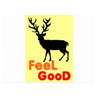 Cartão Postal Sombra dos cervos da sensação boa