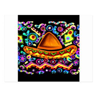 Cartão Postal Sombrero mexicano