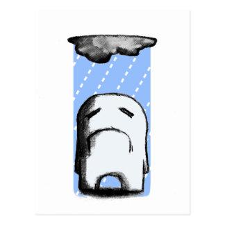 Cartão Postal Sombrio com uma possibilidade da chuva