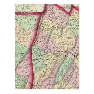 Cartão Postal Somerset, Bedford, condados de Fulton