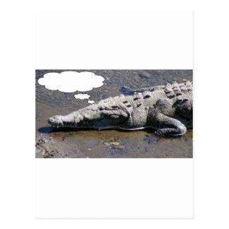 Cartão Postal Sonhando o crocodilo, adicione seu próprio texto!