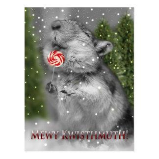Cartão Postal Sonho do Natal do Gerbil