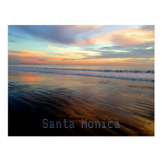 Cartão Postal Sonho Trippy do por do sol de Santa Monica