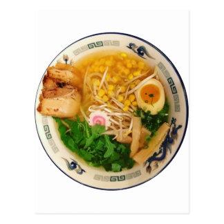 Cartão Postal Sopa de macarronete dos Ramen da carne de porco