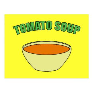 Cartão Postal Sopa do tomate