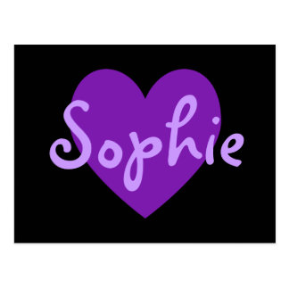 Cartão Postal Sophie no roxo