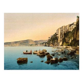 Cartão Postal Sorrento clássico Photoch pelo mar, Nápoles,