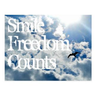 Cartão Postal Sorriso, contagens da liberdade