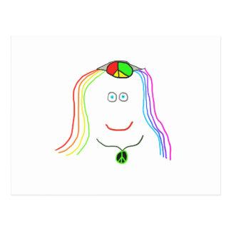 Cartão Postal Sorriso do hippy