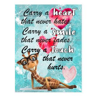 Cartão Postal Sorriso e toque do coração
