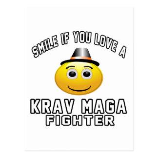 Cartão Postal Sorriso se você ama o lutador de Krav Maga