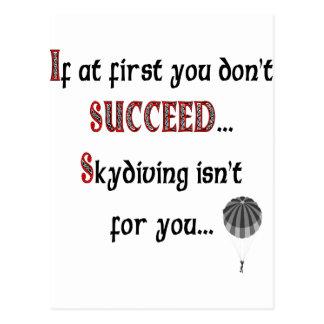 Cartão Postal Sorriso se você ama Skydiving