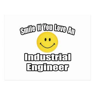 Cartão Postal Sorriso se você ama um engenheiro industrial