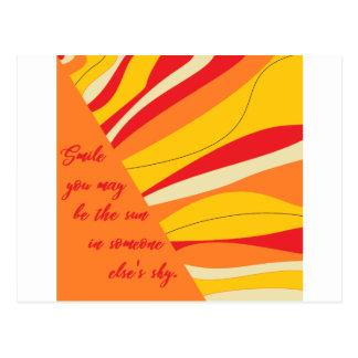 Cartão Postal sorriso você pode ser o sol em alguém céu dos