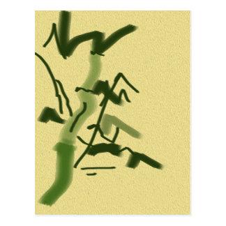 Cartão Postal Sorte e bambu