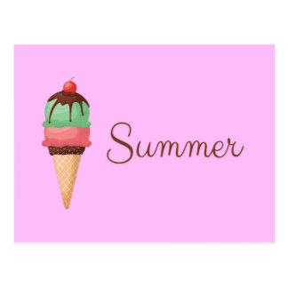 Cartão Postal Sorvete do verão