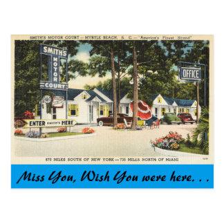Cartão Postal South Carolina, corte do motor de Smith, Myrtle