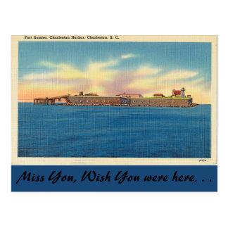 Cartão Postal South Carolina, forte Sumter, Charleston