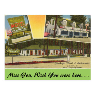 Cartão Postal South Carolina, o motel de Sturkey, Orangeburg
