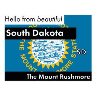 Cartão Postal South Dakota o estado do Monte Rushmore