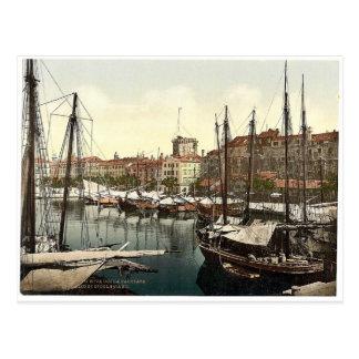 Cartão Postal Spalato, o palácio de Diocletian, Dalmácia,