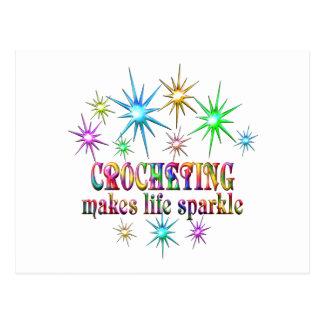 Cartão Postal Sparkles Crocheting