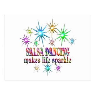 Cartão Postal Sparkles da dança da salsa