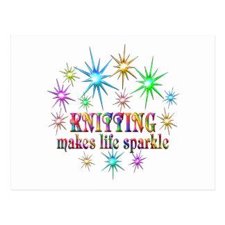 Cartão Postal Sparkles de confecção de malhas