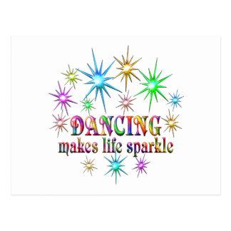Cartão Postal Sparkles de dança