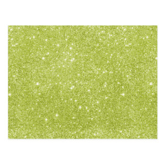 Cartão Postal Sparkles do brilho do verde limão