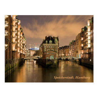 Cartão Postal Speicherstadt, Hamburgo