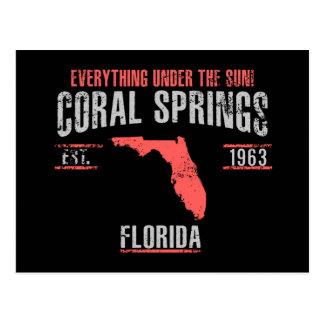 Cartão Postal Spings coral