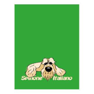 Cartão Postal Spinone Italiano cabeça clara Cute