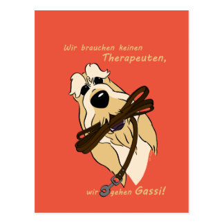Cartão Postal Spinone Italiano - terapeuta