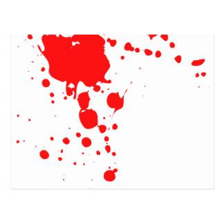 Cartão Postal Splatter do sangue