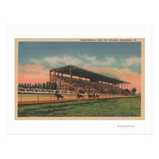Cartão Postal Springfield, IL - cavalo justo das terras do