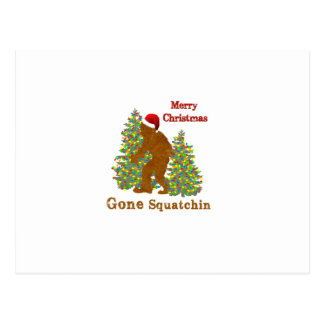 Cartão Postal Squatchin ido Feliz Natal