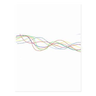 Cartão Postal Squiggles abstratos de Interwined