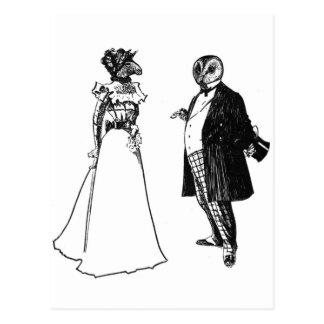 Cartão Postal Sr. Barnowl & Sra. Lama