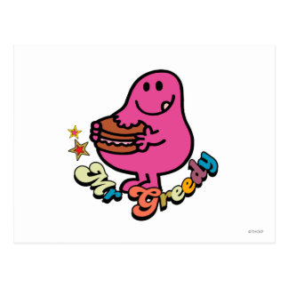 Cartão Postal Sr. colorido Ávido Eating