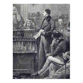 Cartão Postal Sr. Gladstone que entrega seu discurso novo