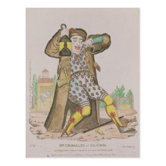 Cartão Postal Sr. Grimaldi como o palhaço, iluminação