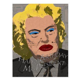 Cartão Postal Sr. presidente do feliz aniversario
