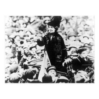 Cartão Postal Sra. Emmeline Pankhurst Addressing uma multidão